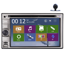 GPS Car DVD 6.2 Inch EQ Radio System Touch Screen CD MP3 PC Receiver Stereo Audio Autoradio Camera Music 3D Map