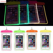 Hot Sale Luminous Glow Waterproof Pouch Bag Pack Dry Case Cover For Your Phone