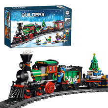 Lepin 36001 Winter Holiday Train Building Bricks Blocks New year Gift Toys for Children Boy educational 10254