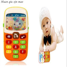 Huan qiu xin mao Kids Electronic Mobile Phone with Sound Smart Phone Toy Cellphone Early Education Toy Infant Toys Random Colors