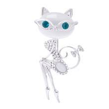 TOMTOSH  2017 opal brooch cat wearing sunglasses woman sexy cute cat pin and brooch wedding accessories
