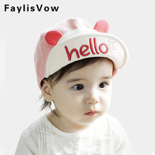 Clearance Baby Hat Hello Animal Cartoon Kids Baseball Cap Palm Cute Baby Boy Girl Beanies Soft Cotton Caps Infant Visors Sun Hat