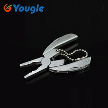 YOUGLE Portable Powerful 6 in 1 Mini Plier Pliers Multi function Multifunctional Tool Tools Key Chain Screwdriver Files Knife