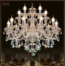 Modern Crystal Chandelier Living Room lustres de cristal Decoration Tiffany Pendants and Chandeliers Home Lighting Indoor Lamp(China)