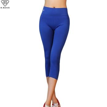 B. BANG Femmes Collants Running Sport Pantalon pour Entraînement Fitness Gym Sport Capris pour Femme Élastique Pantalon de Course Pantalon SL