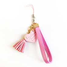 Fashion Key Chain hand rope Letter Love shape Tassels phone shell Pendant Bag Charm Accessories Car Key Ring Gift jewelry K1614(China)