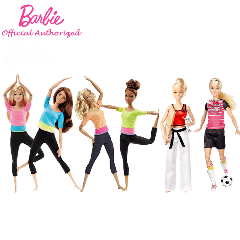 Barbie Authorize Brand 7 Style Fashion Dolls Yoga Model Toy For Little Girl Birthday Gift Barbie Girl Boneca Model DHL81(China (Mainland))