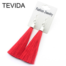 925 Sterling Silver Earrings Long Silk Tassel Earrings Drop Stardust Earrings for Women and Girl