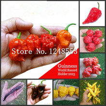 200pcs/bag Carolina Reaper, hot chili seeds Organic Rainbow Bell Ghost Pepper seeds,mix color, Non-GMO House plants for garden