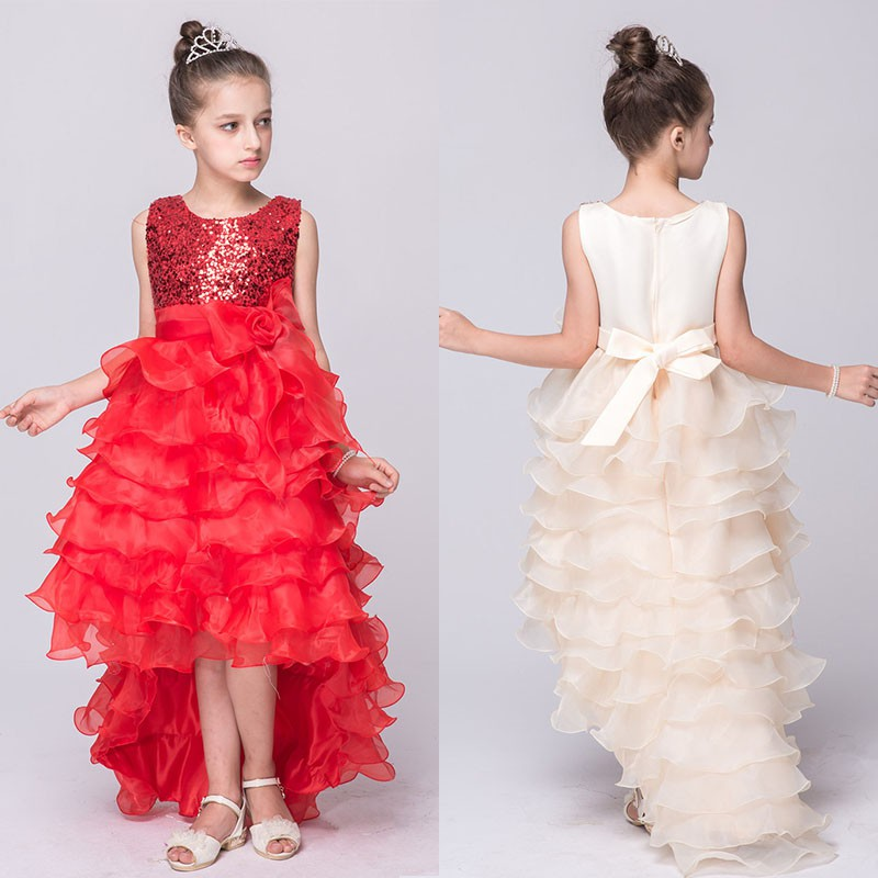 2-12Y Kid Girl Princess Dress Wedding Bridesmaid Pageant Sequined Tutu Dresses DH<br><br>Aliexpress