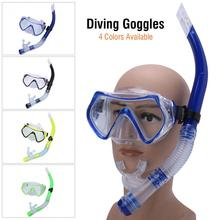 Adult Swimming Mask Diving Google Scuba Mask Underwater Snorkel Glasses With Half Dry Breathing Tube