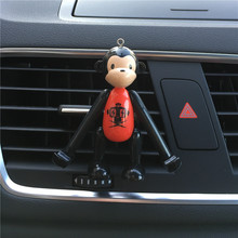 long arm of the monkey phone support Car styling Ornament Air conditioner perfume clip Multi function Car perfume Air Freshener