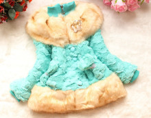 Fashion Baby Girls Faux Fur Coat Autumn/Winter Clothes Children Toddler Kids Sweet Worm Outerwear Jacket Beautiful Coat