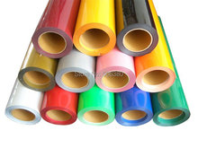 5 Rolls 50cmx100cm Heat Transfer PU Vinyl With Sticky Back 33colors Cutter Press(China)
