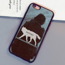 Game Of Throne  Jon Snow Bastard Print Mobile Phone Case For iPhone 6 6S Plus 7 7 Plus 5 5S 5C SE 4S Soft Rubber Skin Back Cover