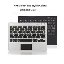 Multifunctional Super Thin Slim Aluminum Bluetooth Keyboard For Laptop Fit For 7/8/9/10 Inch Tablets Silver/Black Best Gifts(China)