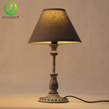 Indoor Lighting E14 Bulb Holder Table Lamp Iron Base Light Fabric Lampshade Lamps Bedside Table Lights Night Bar Home lighting