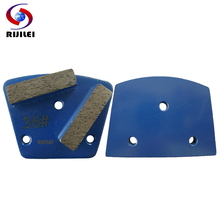 3 PCS/lot 40*10*10mm*2T Trapezoid Metal Diamond Concrete Grinding Pad Scraper for strong magnetic plate of floor grinder A10(China)