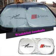 Sline Logo Car Front Windshield Sunshade For Audi A4 B6 B7 B8 B5 A3 A5 A6 C5 C6 C7 A7 A8 Q3 Q5 Q7 80 100 TT S3 S4 S8 R8 RS