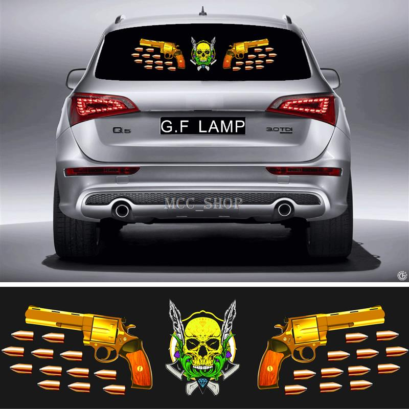 90*25cm Car Sticker Music Rhythm GF-ML-45 LED Flash Light Sound Activated Equalizer<br>