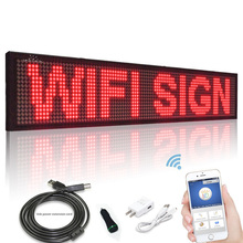 12V 50CM  P5 Wifi Car Bus Truck Programmable Advertisement Scrolling LED Sign Message Board 2A cigarette lighter power supply