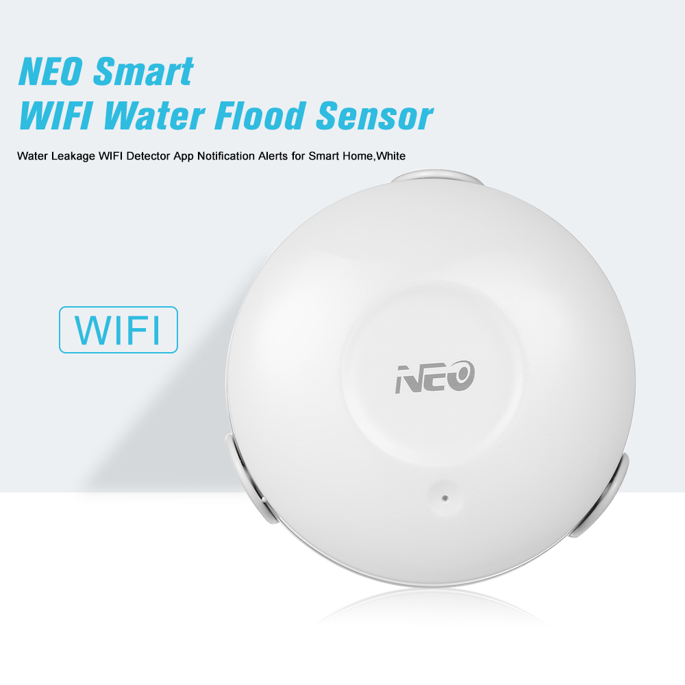 NEO Smart WIFI Water Flood Sensor WIFI Water Leakage Detector App Notification Alerts Water Sensor Alarm Leak Alarm Home Securit(China)