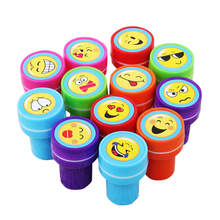 12Pcs/Lot Kids Cartoon Stampers Emoji Smile Face Stamps Children Drawing Toys children educational toy