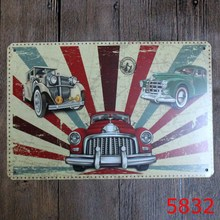 30X20CM America Old Car  Vintage Home Decor Tin Sign Wall Decor  Metal Sign Vintage  Art Poster Retro Plaque\Plate
