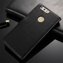 Luxury Retro Wallet Genuine Leather Case for Huawei Honor 8 with tempered glass With stylus pen Magnetic Multi case P25