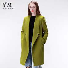 YuooMuoo Brand Design Winter Coat Women Warm Cotton-padded Wool Coat Long Women's Cashmere Coat European Fashion Jacket Outwear(China)