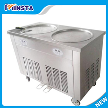 Commercial Stainless Steel Fried ice machine with two pot, 1.5PH compressor, 25L/H fried ice cream machine