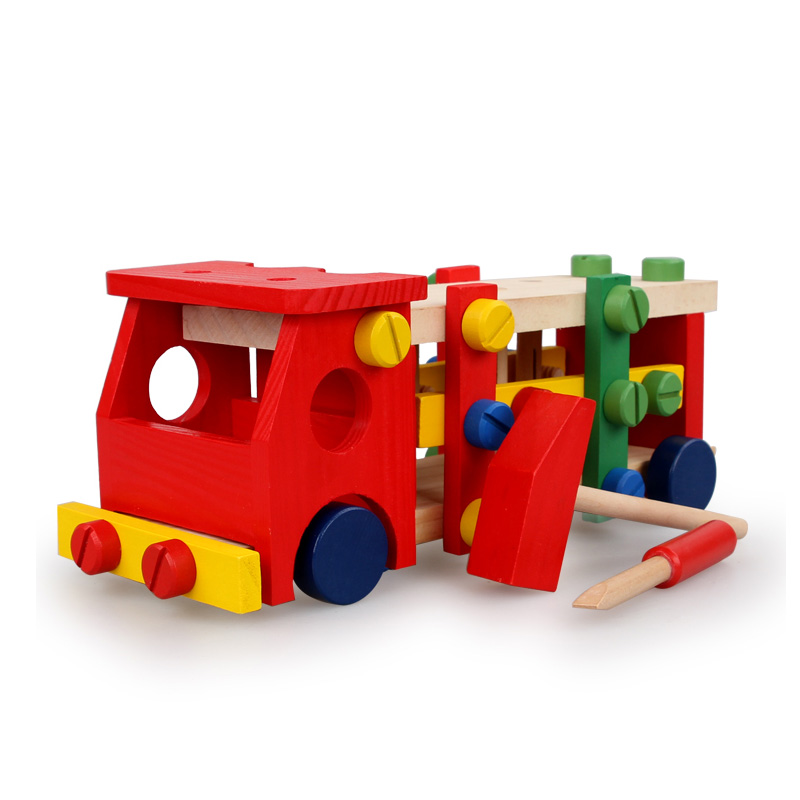 Chanycore Baby Learning Educational Wooden Toys Blocks Screws Nuts Assemblage Geometric Shape Ball Car ycmw Kids Gifts 4210<br><br>Aliexpress