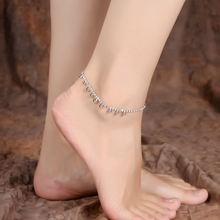 Danze Fashion Silver Color Circle Pendant Anklet Bracelet Barefoot Sandals Crystal Chain Anklets Foot Jewelry For Women 2017