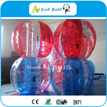 8pcs+2pump,free ship,1.2m good quality TPU New Product Soccer Bubble / Bubble Football / Inflatable Bumper Ball For kids