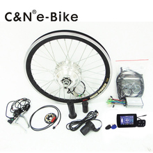 free shipping 36v 350w gear motor ebike electric bike conversion kit  with NEW TFT displayer!!!
