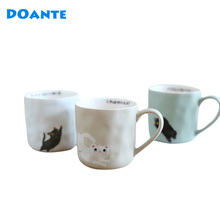 DOANTE Brand 380ML Ceramic Coffee Mug Handgrip Tea Water Cup Moomin Beer Milk Cup Mugs Drinking Water Bottle