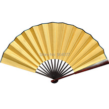 DIY Program Blank Silk Folding Fans Home Decoration China Fine Art Painting Mens Hand Fan Crafts Gift 5pcs/lot Free shipping(China)