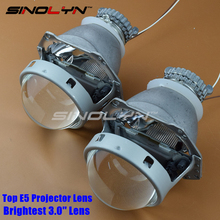 SINOLYN Car Styling New Top Quality 3.0 HID Bi xenon Projector Lens Headlight Retrofit Lenses H4 Super Bright, Use D2S D2H Bulbs