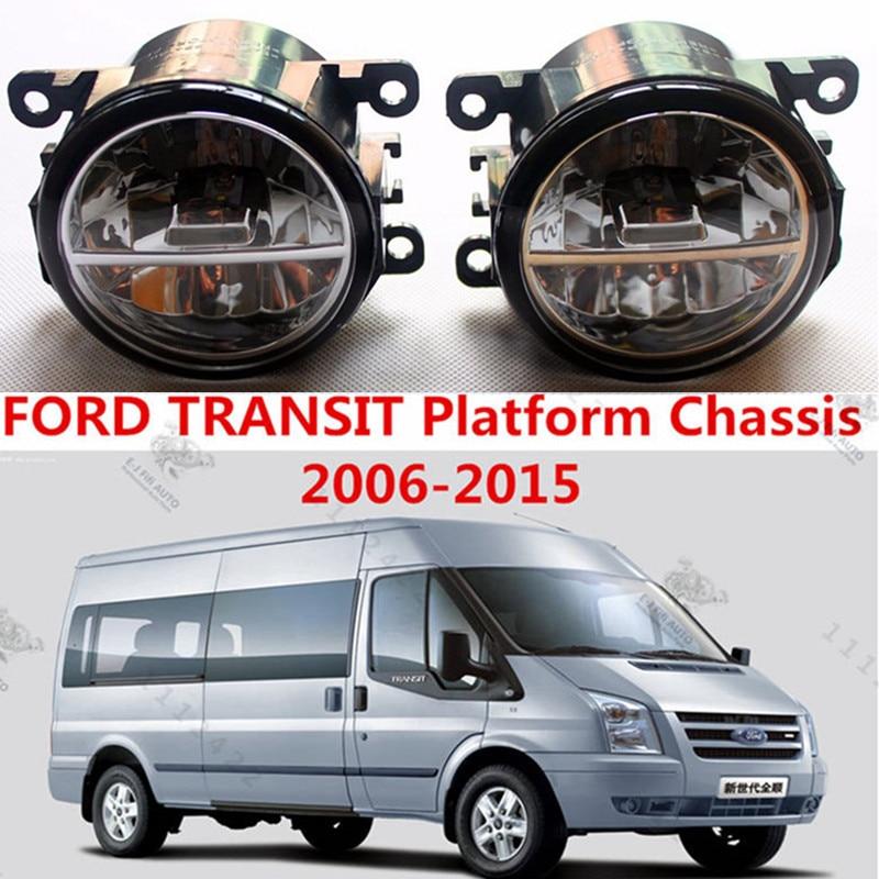 For FORD TRANSIT Platform Chassis 2006-2015  LED fog lights Car styling fog lamp 1SET<br><br>Aliexpress