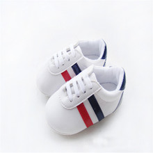 Bebe Baby Boys Girls Soft Sole Crib Shoes PU Leather Anti-slip Shoes Toddler Sneakers 0-12M