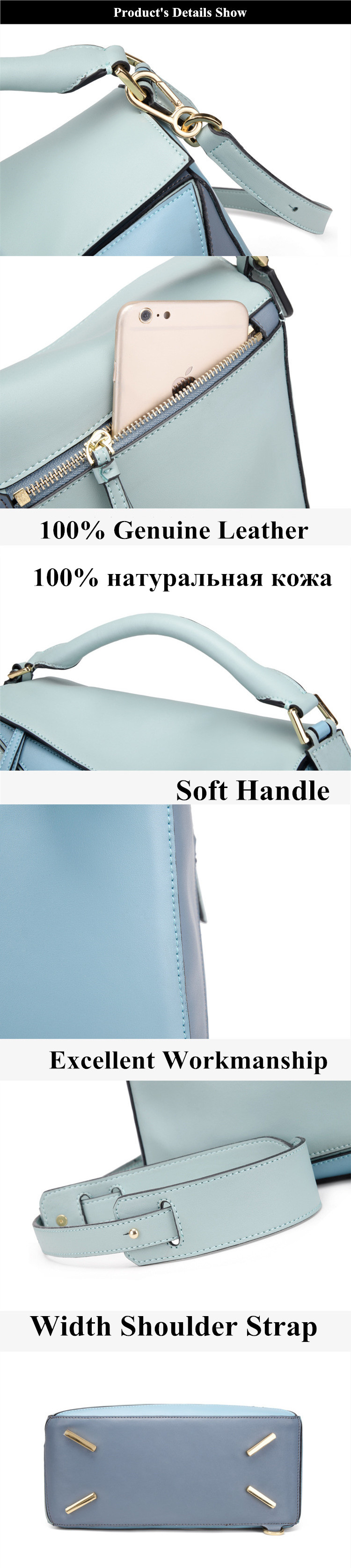 Luxury Handbag Women Bags Designer Inspired High Qyality Genuine Leather Shoulder Bag (14)