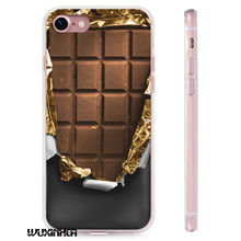 2017 New TPU+PC Combo Phone Case For iPhone 6 6S 7 7plus 5 5s open chocolate Painted Protection Cover