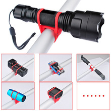 1PCS Bike Light Handlebar Silicone Strap Flashlight Fixing Bands Elastic Bandage Bicycle Light Mount Holder Accessories