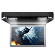 "13.3"" Black Color Flip Down Car DVD Car Roof DVD Roof Mount Car DVD with 1920*1080 HD Resolution  & 2 IR/FM Headphones"