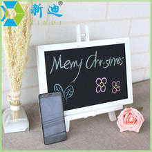 Free Shipping 2016 New MDF White Framel Slate Small Blackboard for Nots Office Supplier 20*30cm Home Decorative Chalk Board