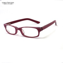 Small Shape Oval Lens Acetate Eyeglass Student Purple Stripe Color Flex Hinge Comfortable Nose Pad Spectacle Frame LX-B2473