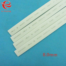 Heat Shrink Tube White Tube Heat-Shrink Tubing Diameter 8mm Thermo Jacket Wire Wrap Insulation Materials  Element 1meter /lot