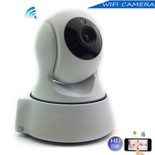 NEW Hot 720P PTZ remote control mini wifi Wireless IP Camera Pan/TILT 1.0MP webcam IR Night Vision USB charger CCTV Smart Camera