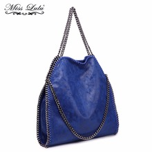 Miss Lulu Women Handbags Soft PU Leather Designer Shoulder Bag Navy Top-handle Bags Female Fashion Clutch Purse Hand Bag S1760(China)