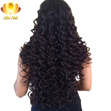 Ali Afee Hair Malaysian Deep Wave 1 Pc 100% Human Hair Extension Natural Black Non-remy Hair Bundle Can Be Dyed and Restyled